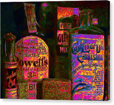 Old Pharmacy Bottles - 20130118 V2a Canvas Print by Wingsdomain Art and Photography