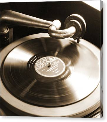 Old Phonograph Canvas Print by Mike McGlothlen
