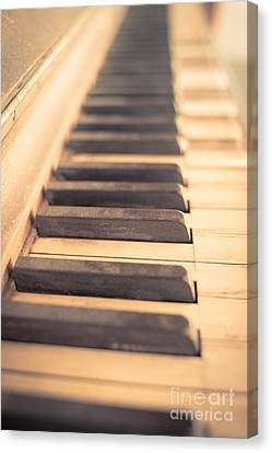 Old Piano Keys Canvas Print