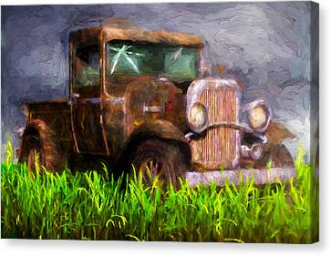 Old Pickup Canvas Print by Bob Orsillo