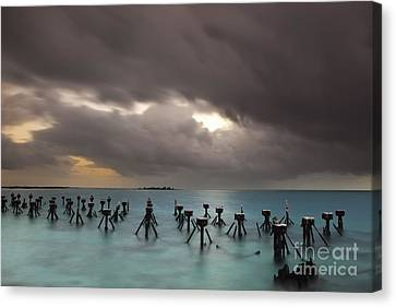 Old Pier In The Florida Keys Canvas Print by Keith Kapple