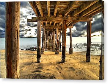Old Pillar Point Pier Canvas Print