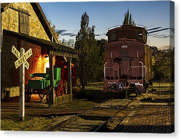 Old Pioneer Town Scene Canvas Print by Russell Honey