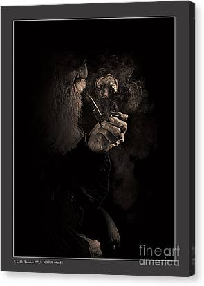 Old Pipe Smoker Canvas Print by Pedro L Gili