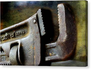 Old Pipe Wrench Canvas Print by Michael Eingle
