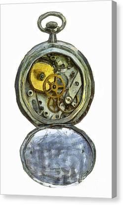 Old Pocket Watch Canvas Print by Michal Boubin