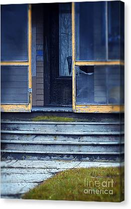 Old Porch Canvas Print by Jill Battaglia