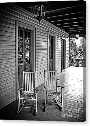 Old Porch Rockers Canvas Print by Perry Webster