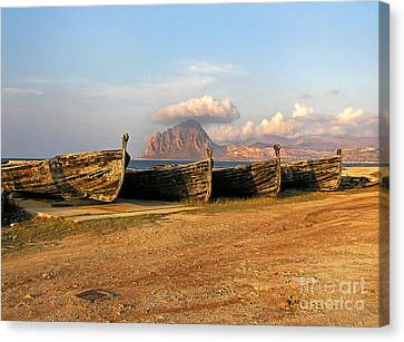Old Port - Trapani - Sicily Canvas Print by Silva Wischeropp