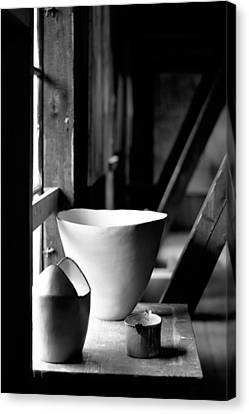 Old Pots At The Window Canvas Print by Tommytechno Sweden