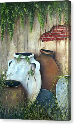 Old Pottery Canvas Print