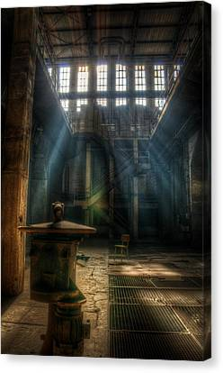 Creepy Canvas Print - Old Power Station  by Nathan Wright