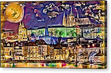 Old Prague Magic - Wallpaper Canvas Print by Daniel Janda