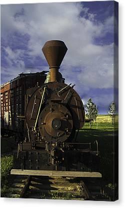 Old Prairie Train Canvas Print