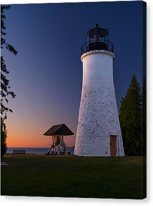Old Presque Isle Lighthouse Canvas Print by Thomas Pettengill