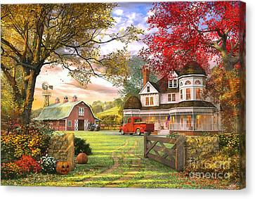 Old Pumpkin Farm Canvas Print by Dominic Davison