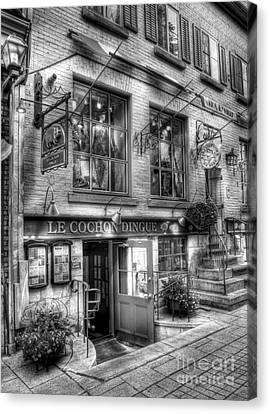 Old Quebec City 3 Canvas Print by Mel Steinhauer