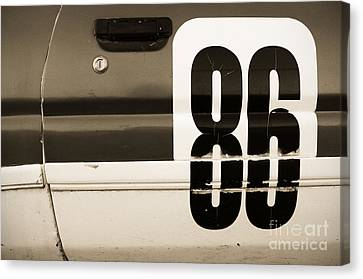 Old Racecar Number Canvas Print by Grigorios Moraitis
