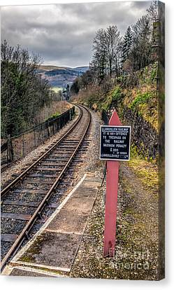 Old Railway Sign Canvas Print by Adrian Evans