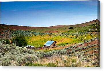 Old Ranch Canvas Print by Robert Bales
