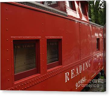 Old Reading Rr Caboose In Lititz Pa Canvas Print by Anna Lisa Yoder