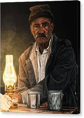 Old Rebel Canvas Print by Ron  McGinnis
