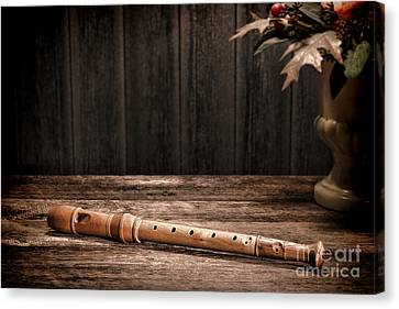 Old Recorder Canvas Print by Olivier Le Queinec