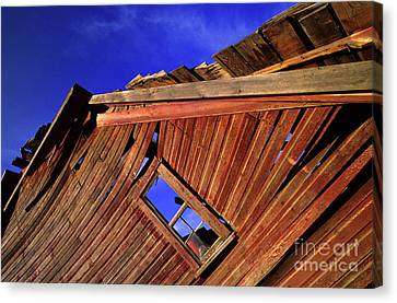 Old Red Barn Canvas Print by Bob Christopher