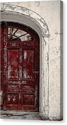 Old Red Door Canvas Print by Edward Fielding