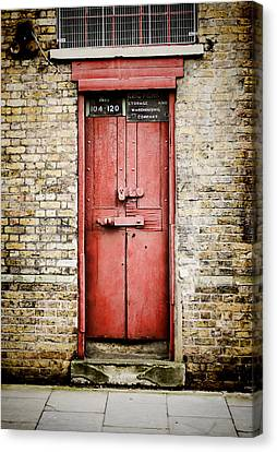 Old Red Door Canvas Print by Heather Applegate