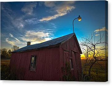 Canvas Print featuring the photograph Old Red by Jason Naudi Photography
