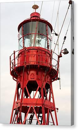 Old Restored Lightship. Canvas Print by Jan Brons