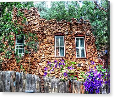 Canvas Print featuring the photograph Old Rock House In Williams Canyon by Lanita Williams