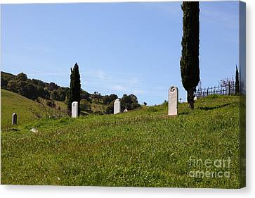 Old Rose Hill Cemetery Atop The Rolling Hills Landscape Of The Black Diamond Mines California 5d2229 Canvas Print by Wingsdomain Art and Photography