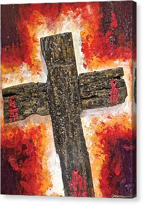 Old Rugged Cross Canvas Print by Jim Ellis