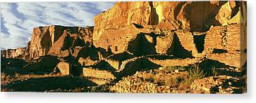 Old Ruins At Archaeological Site Canvas Print by Panoramic Images