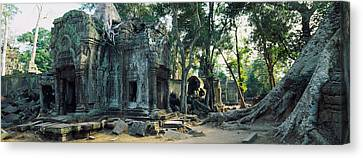 Old Ruins Of A Building, Angkor Wat Canvas Print by Panoramic Images