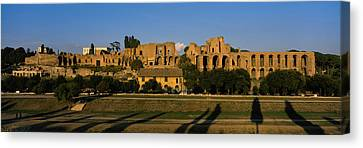 Old Ruins Of A Building, Roman Forum Canvas Print by Panoramic Images