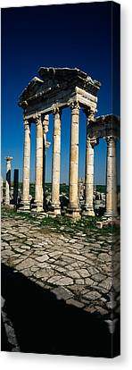Old Ruins Of A Built Structure Canvas Print