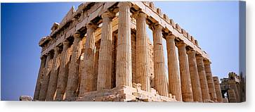 Old Ruins Of A Temple, Parthenon Canvas Print
