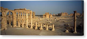Old Ruins Of A Temple, Temple Of Bel Canvas Print by Panoramic Images