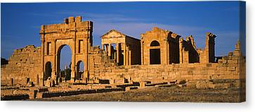 Old Ruins Of Buildings In A City Canvas Print by Panoramic Images