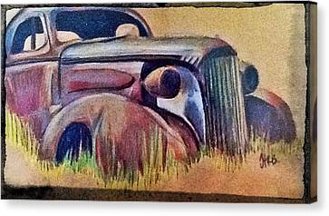 Old Rust Canvas Print by Helen Bowman