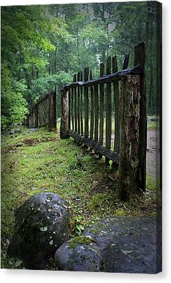 Old Rustic Fence Canvas Print by Larry Bohlin