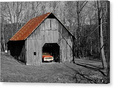 Old Rusty Barn  Canvas Print