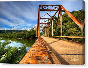 Canvas Print - Old Rusty Bridge In Countryside by Fototrav Print