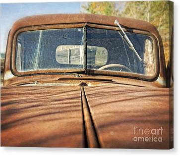 Old Rusty Pickup Truck Canvas Print by Edward Fielding