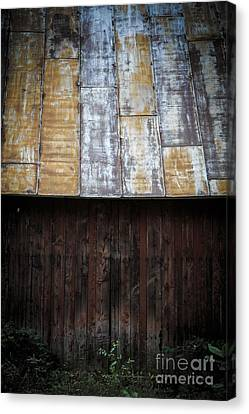 Old Rusty Tin Roof Barn Canvas Print by Edward Fielding