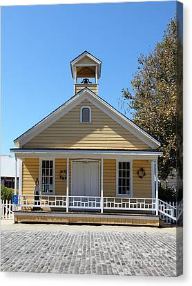 Old Sacramento California Schoolhouse 5d25543 Canvas Print by Wingsdomain Art and Photography