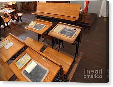Old School Houses Canvas Print - Old Sacramento California Schoolhouse Classroom 5d25778 by Wingsdomain Art and Photography